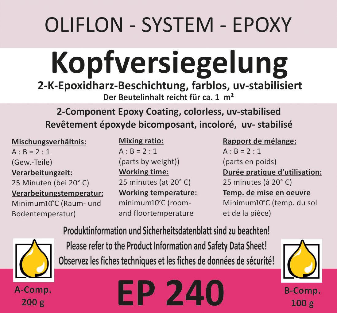 OLIFLON -  OLIPOX EP 240 - 2K Kopfversiegelung